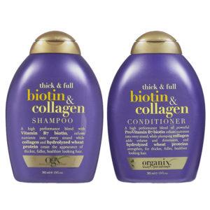 Bộ Dầu Gội Và Dầu Xả OGX Thick-Full Biotin - Collagen
