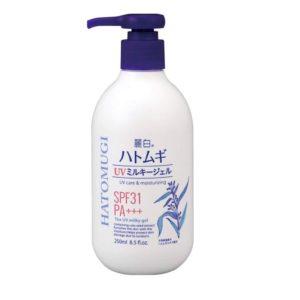 Sữa Dưỡng Thể Hatomugi UV Milky Gel Chống Nắng SPF31 PA+++